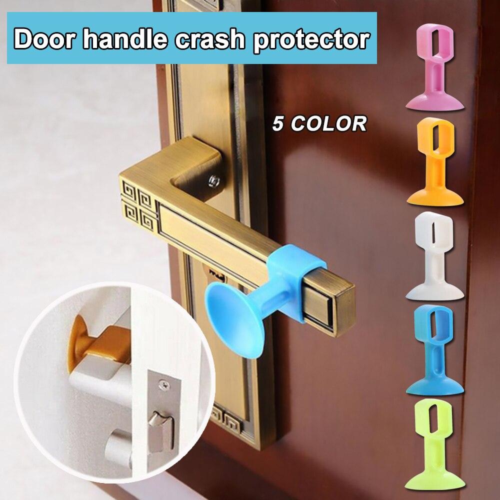 Multifunctional Mute Rubber Glass Door Handle Protection