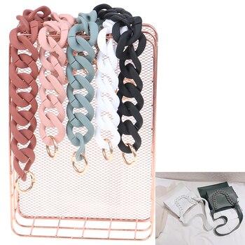 Fashion Colorful 30cm/41cm DIY Detachable Acrylic Chain Handle Fish Bone Plastic Strap Shoulder Bags Accessories For Women - discount item  30% OFF Bag Parts & Accessories