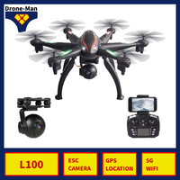 L100 Professional ESC Camera Drone 1080P GPS 5G WIFI HD FPV RC Dron Aircraft Quadcopter Helicopter Selfie Toys Kid
