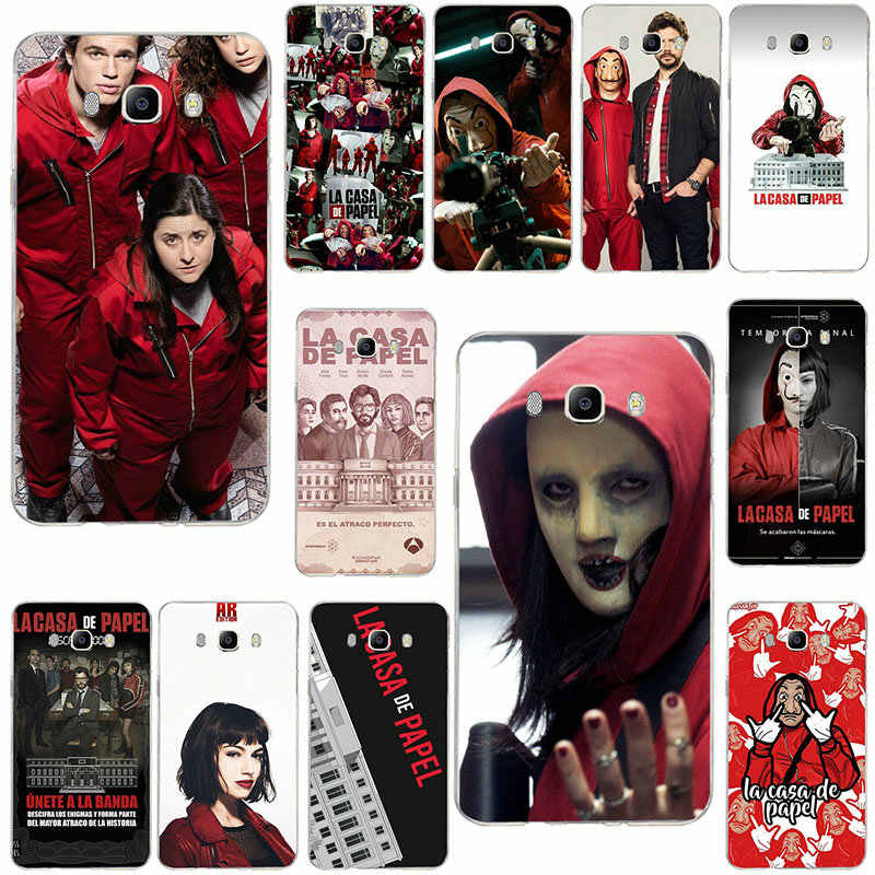 For Samsung Galaxy J1 Mini J2 J3 J4 J5 J6 J7 J8 2016 2017 2018 Prime Shell Soft TPU Cover Spain Tv La Casa De Papel Money Heist