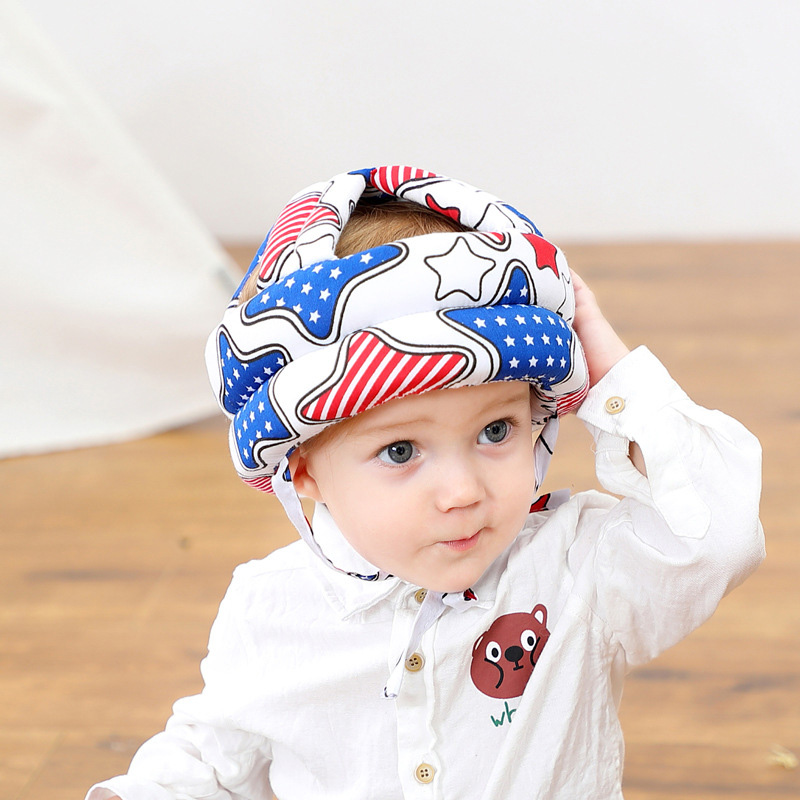 Adjustable Baby Hat Protective Anti-collision Safety Helmet Baby Cap Toddler Kids Hat for Girl Boy Accessories Cotton Mesh 6M-5Y 06