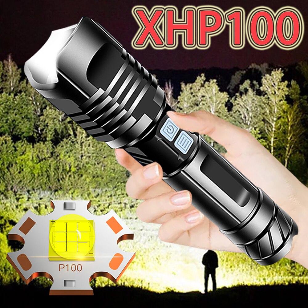 XHP100 LED Headlamp Flashlight Head Torch Power LED Headlight Rechargeable Lamp
