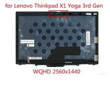 Para lenovo thinkpad x1 yoga 3rd geração lcd montagem da tela de toque substituição fru: 01ay929 wqhd lpm140m420