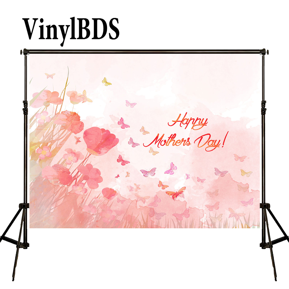 VinylBDS Happy Mothers Day Photography Backdrops Spring Flower Photography Backdrops Large Size Seamless Photo|photography backdrops|flower photography backdrops|photography backdrops large - title=