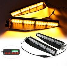 شريط إضاءة LED على الزجاج الأمامي ، 35 بوصة ، 32 LED ، تحذير للطوارئ ، شريط إضاءة لوحة القيادة ، أحمر ، أزرق ، كهرماني ، أبيض ، أخضر