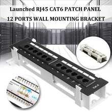 Сетевой набор инструментов 12 портов CAT6 патч-панель RJ45 сетевой настенный держатель для ванной комнаты с поверхностным настенным кронштейном