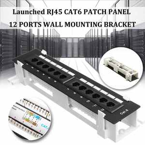Network-Tool-Kit Patch-Panel Wall-Mount-Bracket CAT6 RJ45 12-Port with Surface