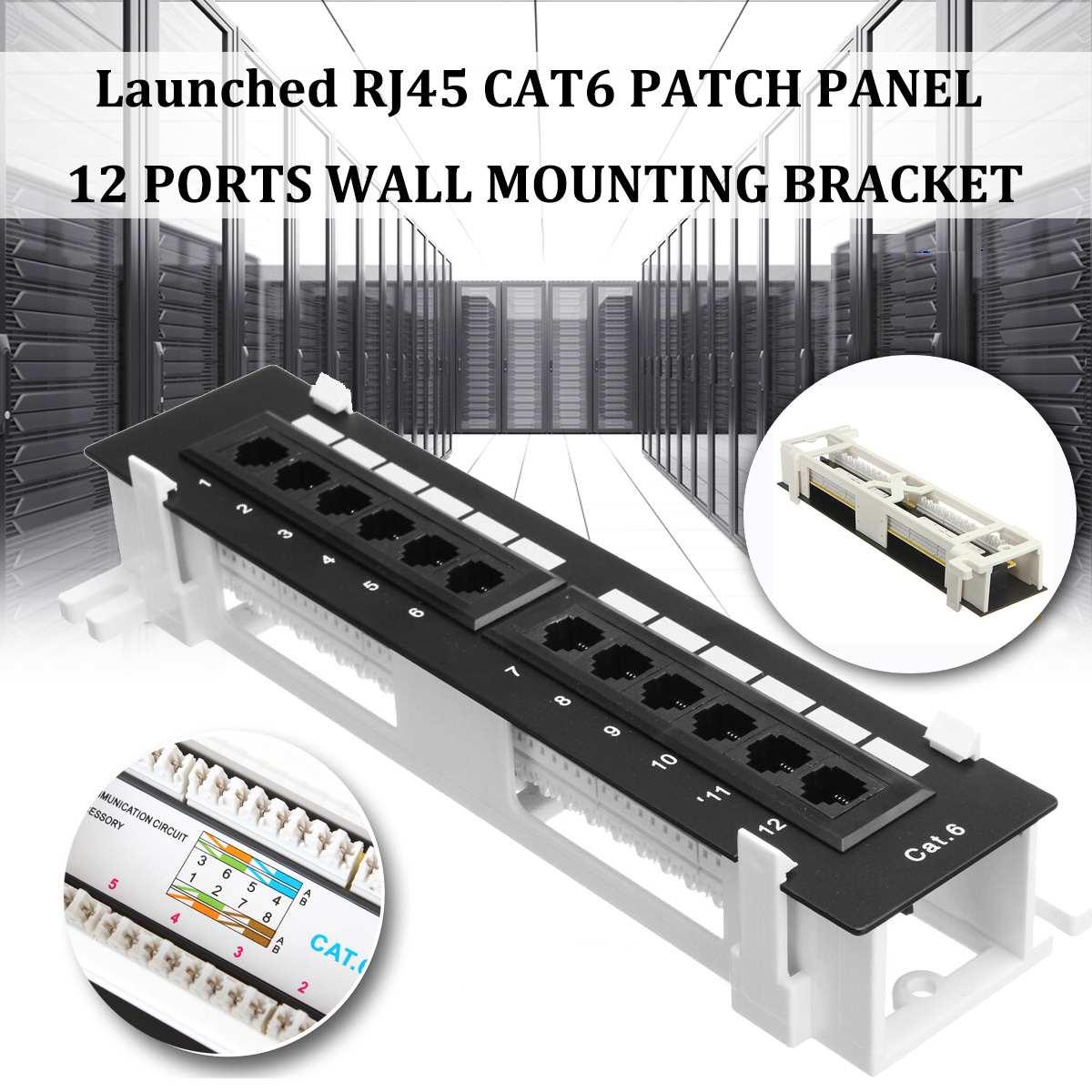 Набор сетевых инструментов с 12 портами CAT6, коммутационная панель RJ45, сетевая настенная стойка с поверхностным настенным креплением