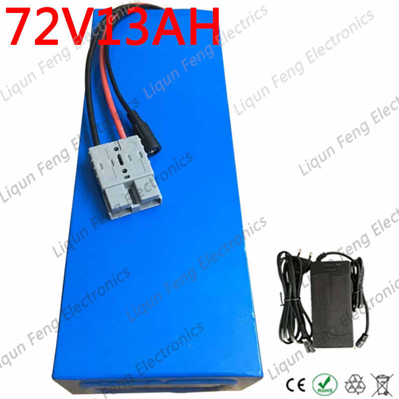 72V battery pack 72V 12AH electric bike batttery 72V 12ah Lithium battery with 30A BMS+84v 2a charger for 1000W 1500W Motor