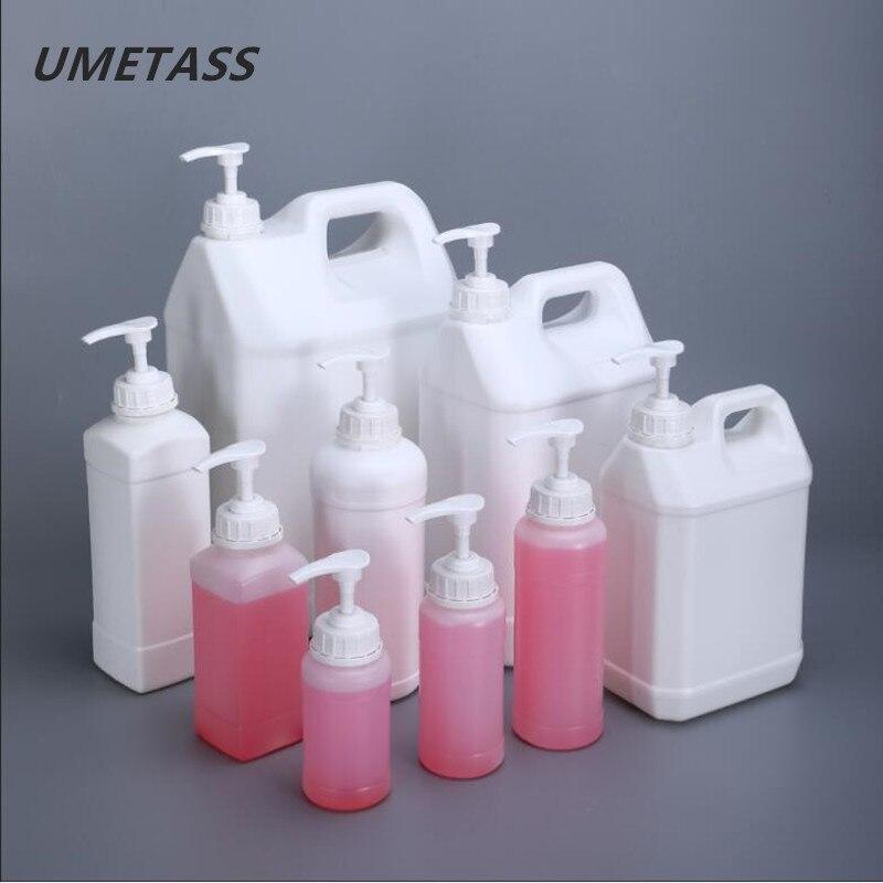 UMETASS Empty Cosmetic Plastic Shampoo Bottle Hair Care Oil Bottle Hand Washing Liquid Body Wash Pump Bottle 1PCS