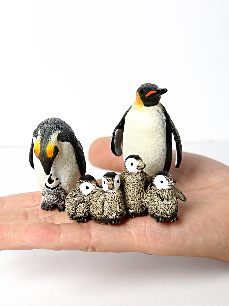 Simulation Penguin Models Figurines,Polar Arctic Animal Figures Antarctic Set,Easter Eggs Cake Toppers Christmas Birthday Gift 2