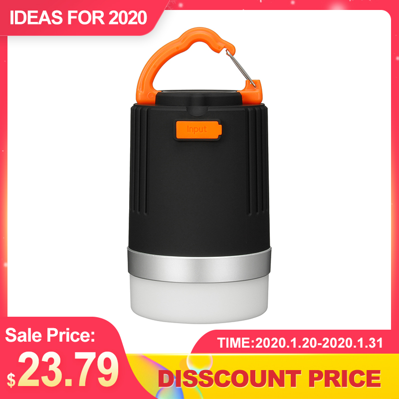 4W 4modes Portable Camping Lantern Multifunction USB Rechargeable LED Light 10400mAh Power Bank Waterproof Torch Emergency Lamp
