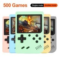 Consola de videojuegos Retro 500 en 1, consola de juegos portátil de 3,0 pulgadas, 8 bits, Mini mando de juegos portátil de bolsillo, regalo para niños