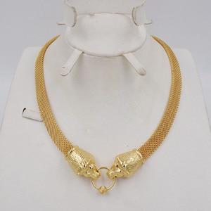 Image 4 - Nieuwe Ontwerp Hoge Kwaliteit Ltaly 750 Goud Kleur Sieraden Voor Vrouwen Afrikaanse Kralen Jewlery Mode Ketting Set Oorbel Sieraden