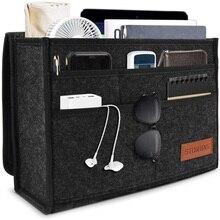 Felt hanging storage bag Bedside storage bag Car seat storage bag Travel storage bag Dark gray