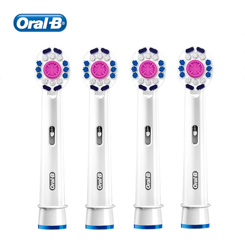 Original Oral B Replacement Toothbrush Heads EB18 3D White Tooth Brush Head Braun Oralb Soft Bristle Cross Action 4pcs/pack image