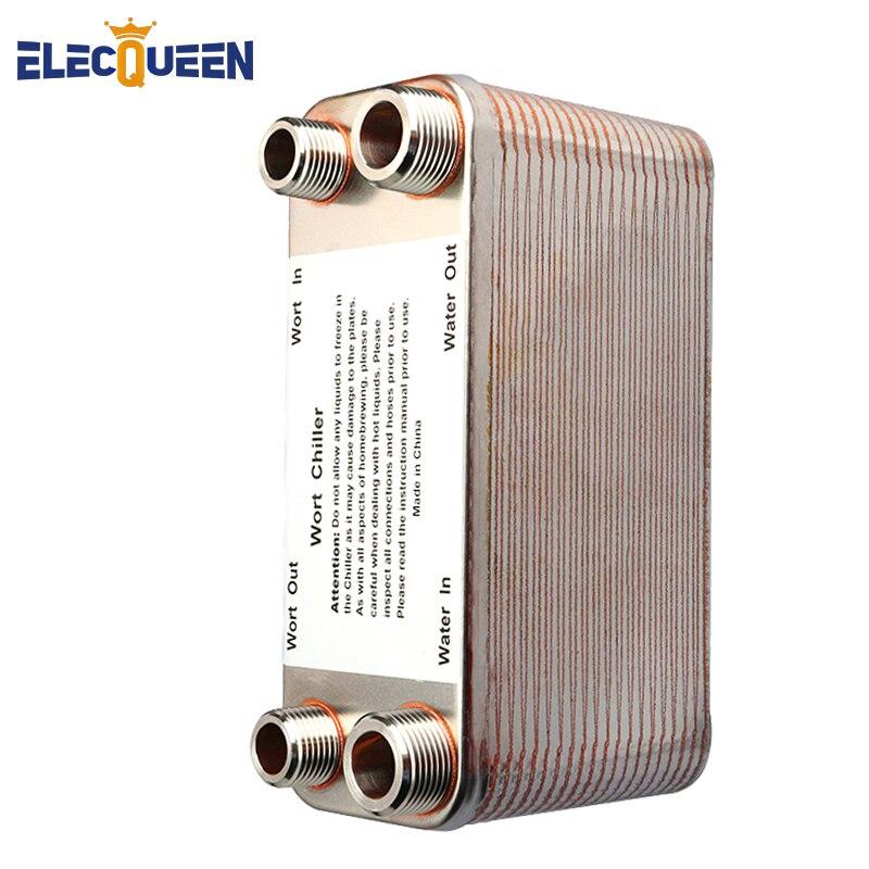 20/30/40 แผ่นแลกเปลี่ยนความร้อน Wort Chiller, สแตนเลส Counterflow Chiller Homebrew เบียร์ Cooler ท่อ Rapid Cooling