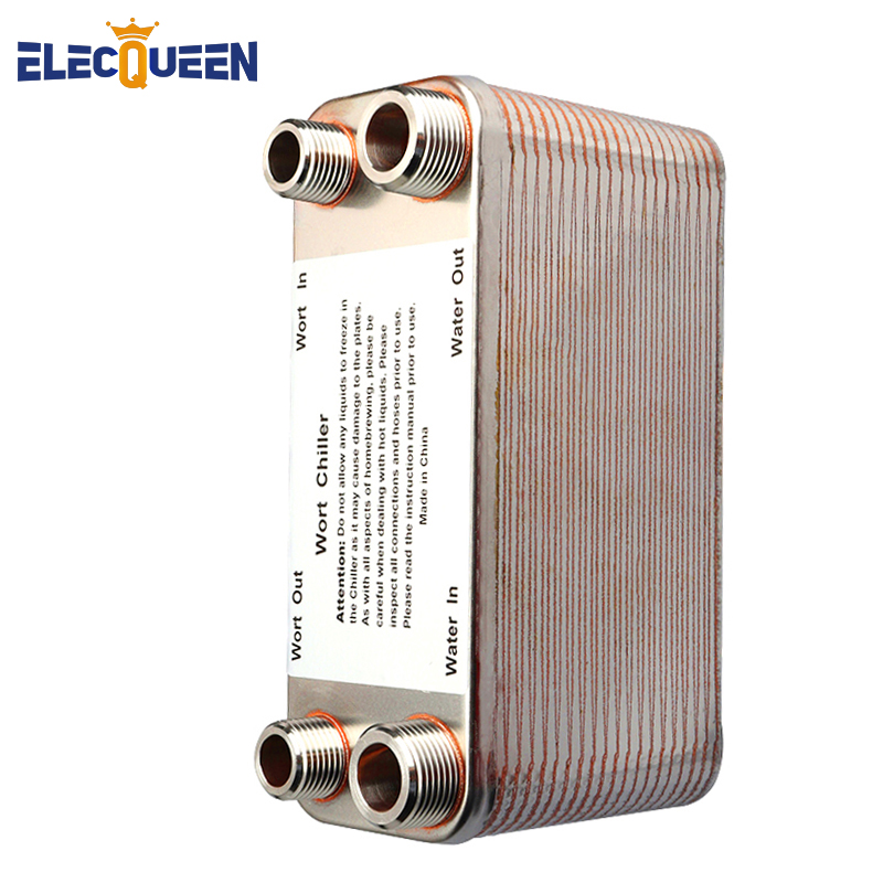 20/30/40 Plates Heat Exchanger Wort Chiller, Stainless Steel Counterflow Chiller Homebrew Beer Cooler Garden Hose Rapid Cooling