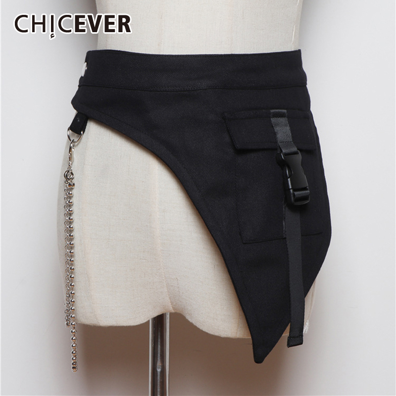 CHICEVER Korean Patchwork Chain Belt Woman Tunic Lace Up Female Belts Adjustable Summer Spring Fashion Clothing Accessories 2020