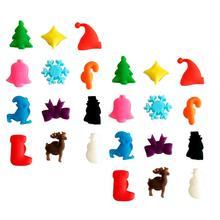 24 шт., многоцветная присоска, кружка стаканы, маркер, силиконовая этикетка, для рождественской вечеринки, специальные инструменты для распознавания стеклянных чашек(смешанные цвета