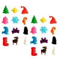 24 шт.  многоцветная присоска  кружка стаканы  маркер  силиконовая этикетка  для рождественской вечеринки  специальные инструменты для распо...