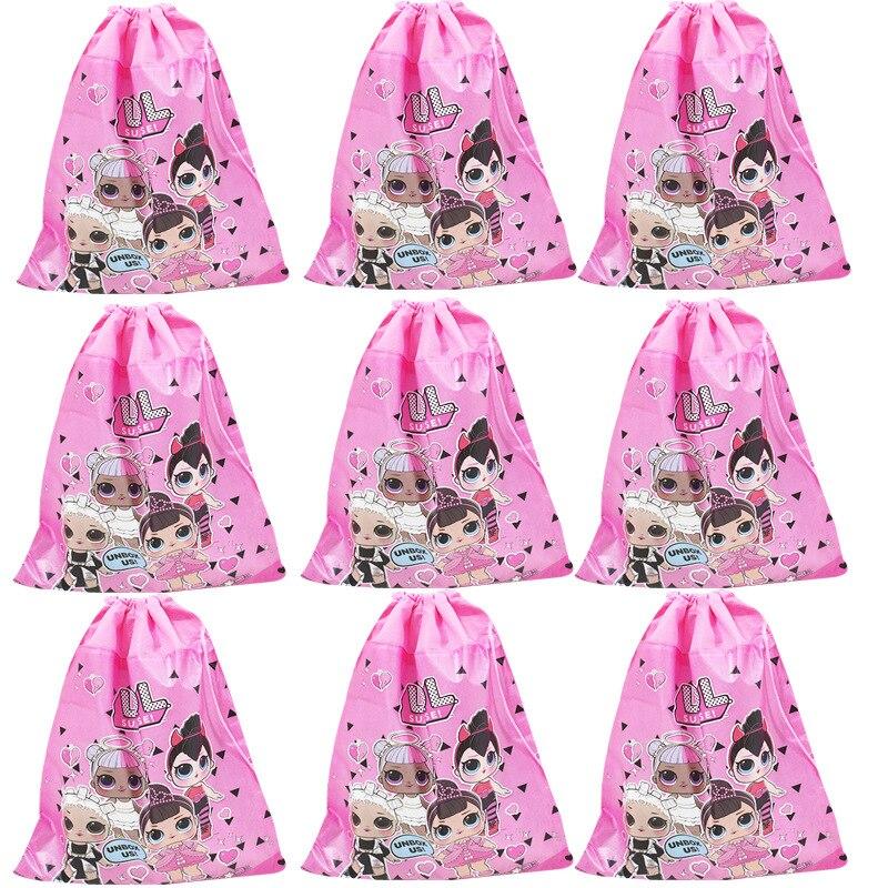 1 pc Original Bundle Pocket Storage Bag Non-woven Fabric Shopping Bag lol surprise dolls Anmie Figure Toys for Children-2