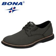 BONA chaussures dextérieur en vache fendue pour hommes, chaussures tendance, plates, résistantes à lusure, solides, pour lextérieur, nouveaux stylistes 2020