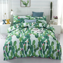 Nordic Fashion Bedding Set Cactus Sea 3D Printed For Home Duvet Cover With Pillowcase Bedclothes Textile Drop Shipping