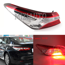 MIZIAUTO Rear tail light For Toyota Camry 2018 turn signal taillights assembly Brake Light Bumper Fog lamp Tail Stop