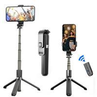 Tripé profissional para selfie, adesivo para foto de telefone celular, transmissão ao vivo, controle remoto bluetooth, suporte para monopé
