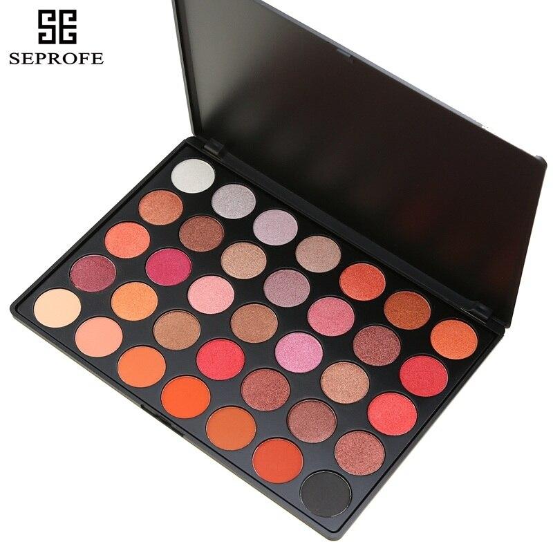 35 cores paleta de sombra Glitter Maquiagem Fosco sombra de Olho de Longa-duração make up paleta maquillage paleta de sombra Eyeshadow