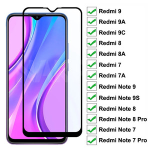 Закаленное стекло 9D для Xiaomi Redmi 9 9A 9C 8 8A 7 7A, Защитное стекло для экрана Redmi 10X Note 7 8 8T 9S 9 Pro Max, защитное стекло