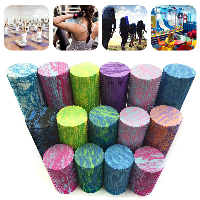 Yoga Foam Roller Column Colorful Solid EVA Yoga Column Rainbow Fitness Supplies Massage Roller Shaft Foam Floating Point Yoga