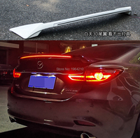 ABS Plastic Painted Black Red White Color Rear Spoiler Trunk Boot Wing Spoiler With Led Light For Mazda 6 ATENZA 2014 2020