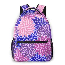 Backpack Casual Travel Bag Colorful Flowers Silhouettes School Bag Fashion Shoulder Bag For Teenage Girl Bagpack