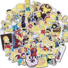 AQK 50Pcs/Lot Vinyl Funny Anime Cartoon Kids Stickers For Skateboard Luggage Laptop Guitar Fridge Bike Car Sticker Decals Pack