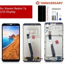 ل شاومي Redmi 7A LCD عرض تعمل باللمس محول الأرقام الجمعية مع الإطار ل redmi 7a عرض استبدال إصلاح قطع الغيار