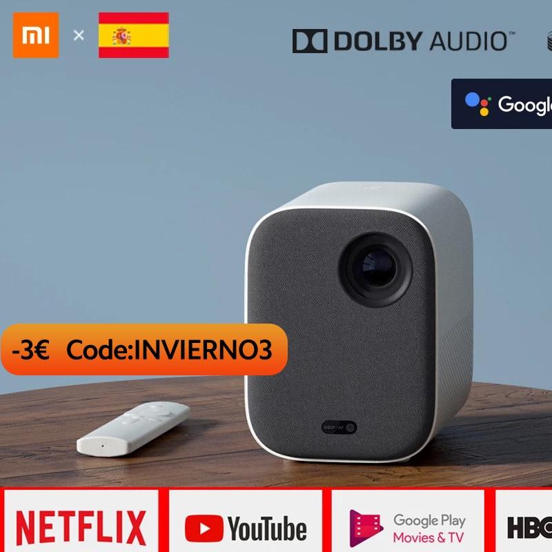 Xiaomi proyector inteligente versión Global, 120 pulgadas, Full HD, 1080P, DLP, 500ANS, Dolby Audio, TVBox, asistente de Google|Retroproyector| - AliExpress