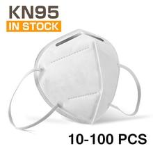 KN95 Mask Dustproof Anti-fog Breathable Face Masks Filtration Mouth Masks 4 Layers Breathable Filter 10-100 PCS FFP2 Mask