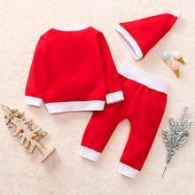 3pcs Set Christmas Clothes Children Costumes