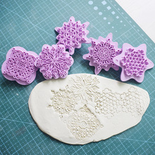 5pcs Mandala Lace Pattern Cookie Stamp Biscuit Mold Cookie Cutter Fondant Cake Molds DIY Baking Bakeware Decoration Tool