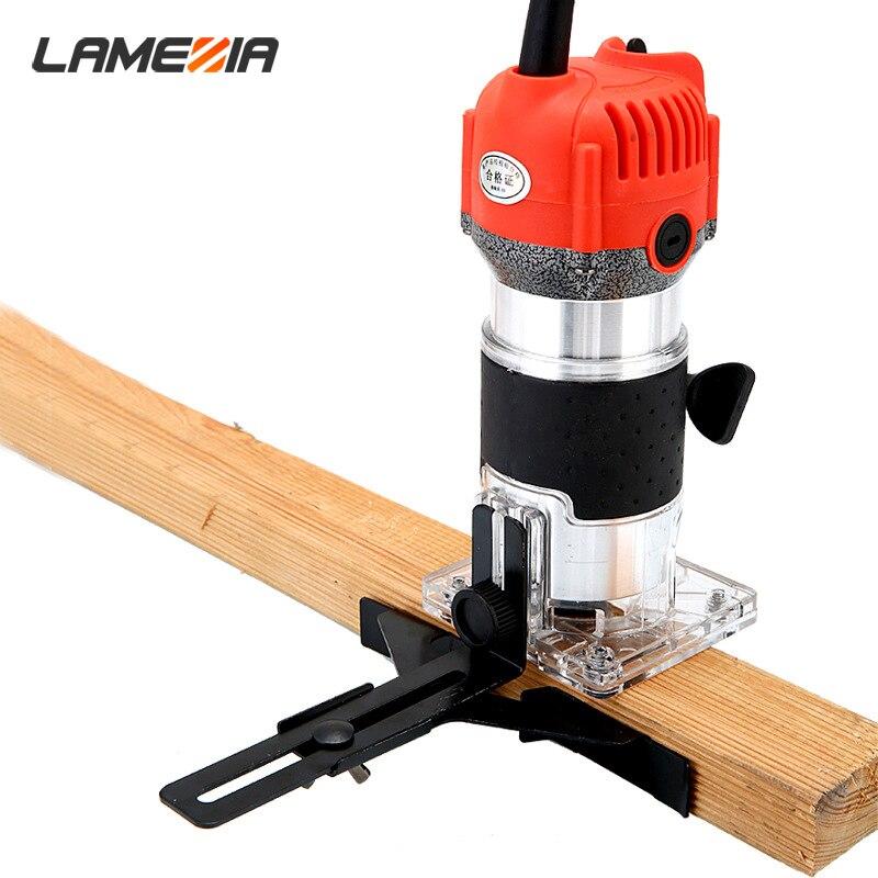 LAMEZIA 220V 680W Elektrische Trimmer Handheld Laminat Rand Collet Holz Router Holz Fräsen Gravur Stoßen Maschine