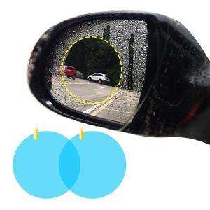 Image 2 - 2Pcs Car Side Window Protective Film Anti Fog Waterproof Anti Glare Membrane Car Sticker Auto Accessories