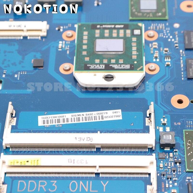 NOKOTION для Samsung R525 NP-R525 материнская плата для ноутбука HD4200 512MB DDR3 Бесплатная cpu BA92-06827A BA92-06827B