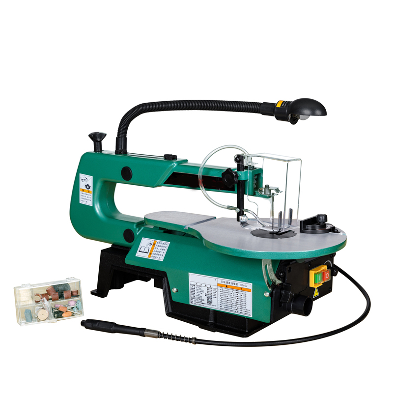 H1602 16 Inch Luxury Models Stepless Speed Wire Saw Machine Pull Flower Saw Jig Saw Multi-function Saw Processing Center
