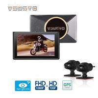 شاشة 3.0 بوصة للدراجة النارية DVR E7 wifi أمامي 1080p full hd ومستعرض للخلفية كاميرا لرؤية السيارة والدراجات النارية رؤية ليلية فائقة-في كاميرا DVR/Dash من السيارات والدراجات النارية على