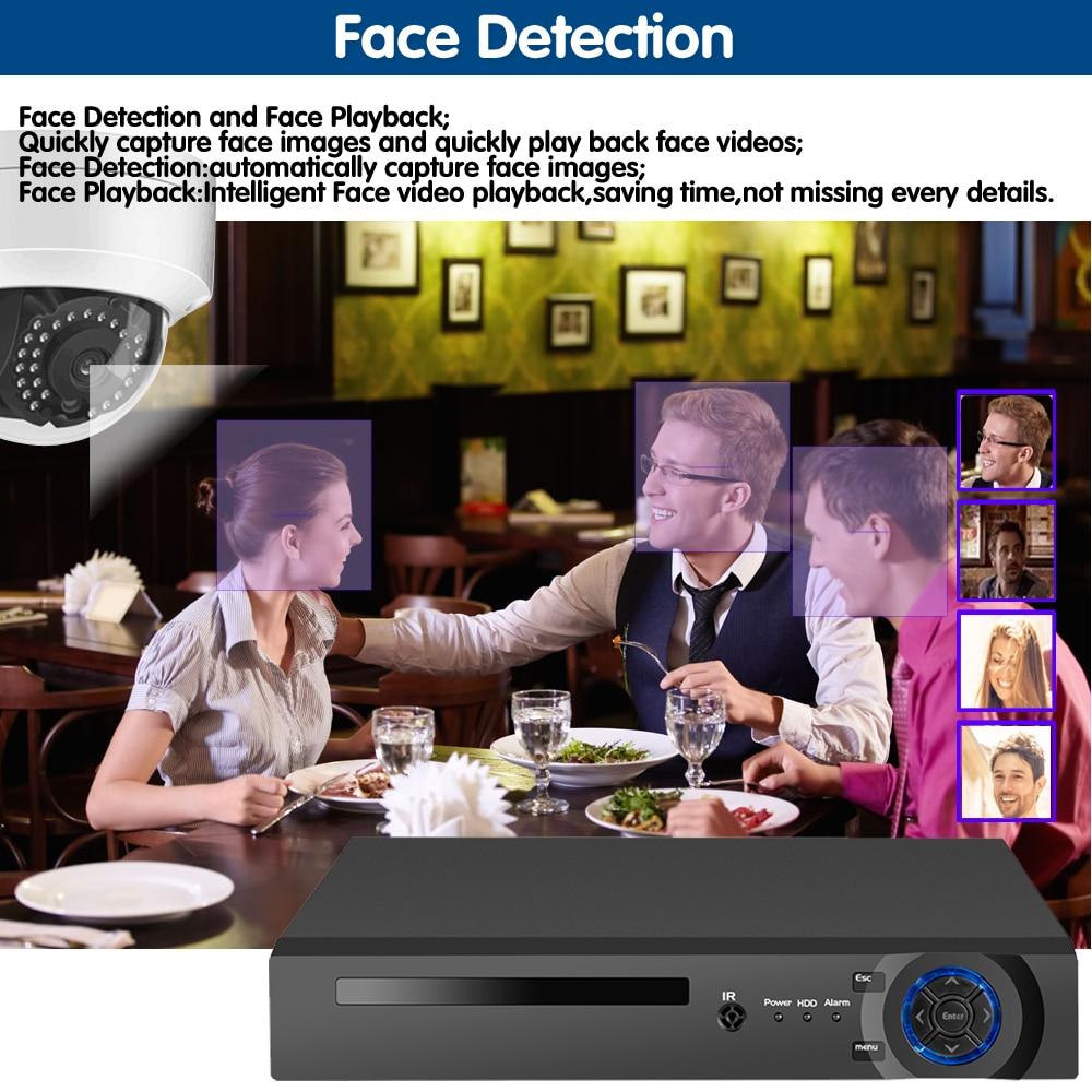 Vandal-proof Dome POE IP Kamera kit HD gesichts 8CH 5MP Wireless NVR Sicherheit CCTV System In/Outdoor IP66 Video Überwachung Kit