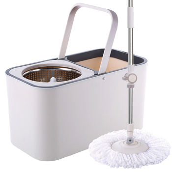 David mop bucket rotating  bar universal automatic hand-free washing household lazy    topological