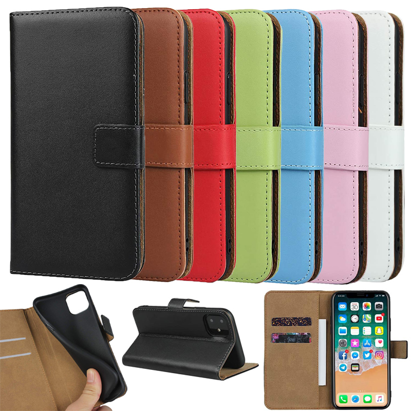 Retro Leather Phone Case for iPhone 11 Pro X XS MAX XR 7 8 6 6S Plus 5 5S Book Cover With Card Holders Money Pocket