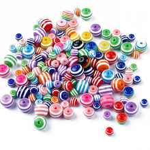 30/50pcs 6/8/10mm Acrylic Beads For Jewelry Making Bracelet Accessories Round Flat Loose Spacer Beads Diy Kid Beaded Toys Gifts